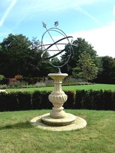 Filler: The Baluster Sundial Pedestal with Holborn Armillary Sphere