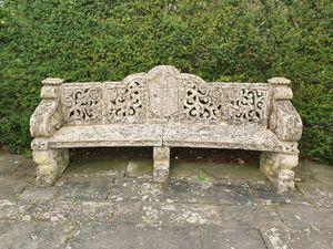 A Baroque garden seat