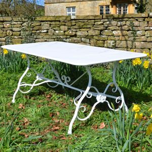 The Small Rectangular Garden Dining Table