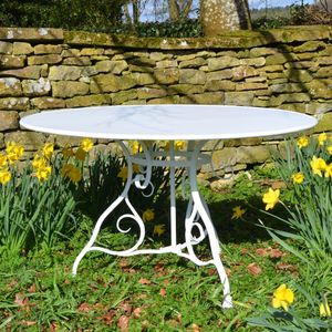 The Large Circular Garden Dining Table