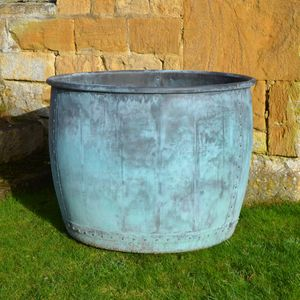 The Sissinghurst Castle Garden Copper Planter - Rolled Edge - In association with the National Trust