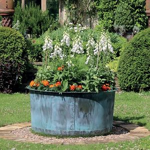Filler: The Courtyard Copper Garden Planter - Small