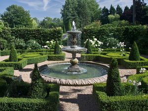Filler: The Two Tier Fountain with Decorative Circular Pool Surround