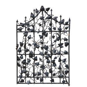 A decorative wrought iron gate