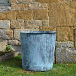 The Circular Terrace Copper Garden Planter - Small