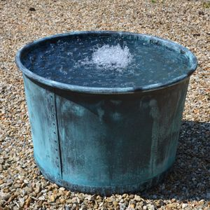 The Circular Copper Garden Planter - Large - Rolled Edge - Watertight