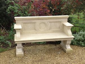 Filler: The Neo-Classical Seat - Hand Carved Natural Limestone