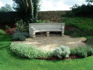 Filler: The Curved Neo-Classical Seat - Hand Carved Natural Limestone
