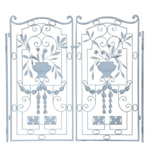 A pair of decorative garden gates