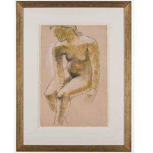 'Seated Nude' Frank Dobson 1888-1963