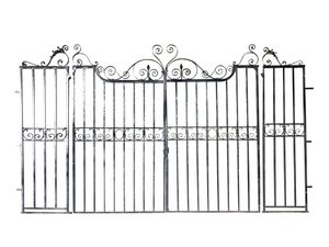 A pair of large garden gates
