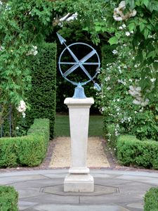Filler: The Inverted Sundial Pedestal with Zenith Armillary Sphere