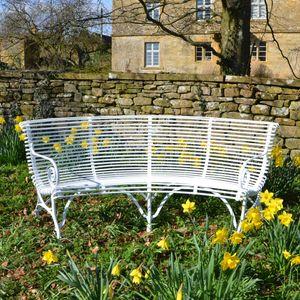 The Semi-Circular Ladderback Garden Seat