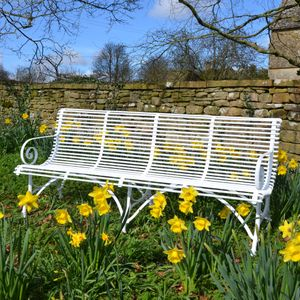 The Large Straight Ladderback Garden Seat