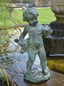 The Bronze Boy with Birds
