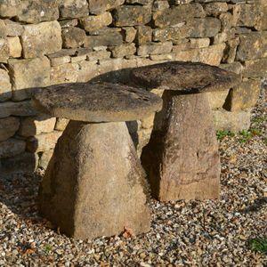 A pair of Ham stone staddlestones