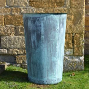 The Circular Terrace Copper Garden Planter - Large