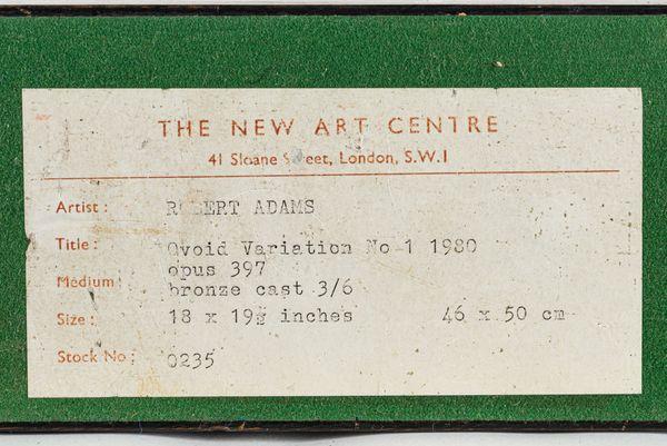OVOID VARIATION No.1 1980 (Opus 397) - Robert Adams 1917-1984