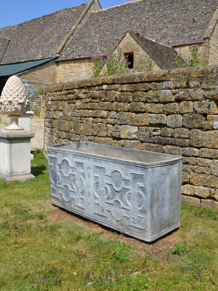A fine 18th century lead cistern dated 1792