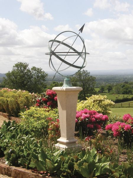 The Inverted Sundial Pedestal with Greenwich Armillary Sphere