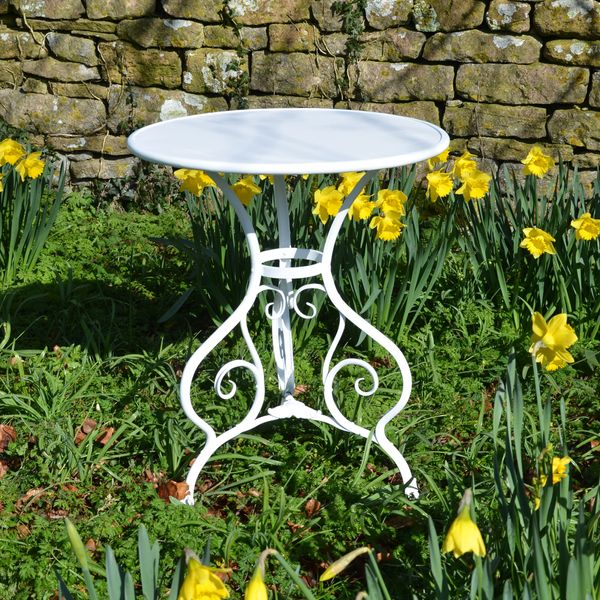The Circular Garden Table for Two