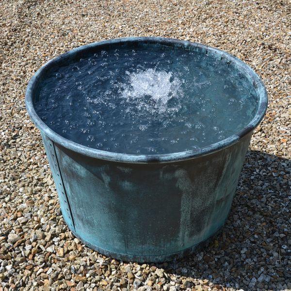 The Circular Copper Garden Planter - Large - Rolled Edge - Watertight