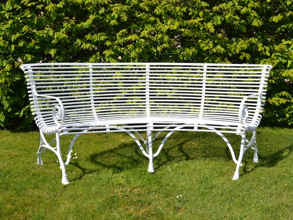 The Semi-Circular Ladderback Garden Seat