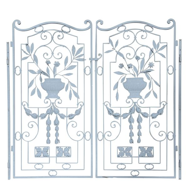 A pair of decorative garden gates