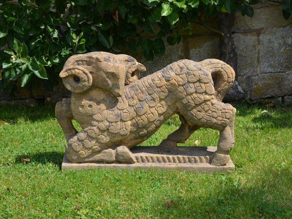 A Ham stone sheep by Roy Smith RWA