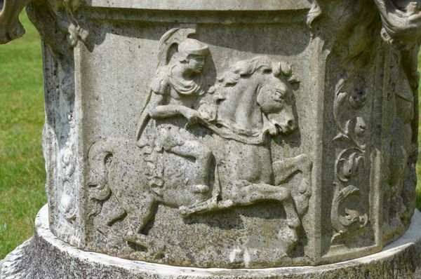 A finely carved marble wellhead