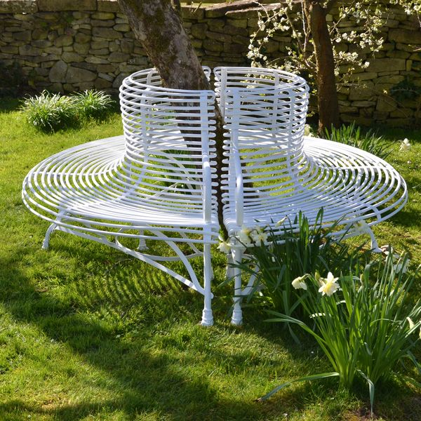The Semi-Circular Ladderback Garden Tree Seat