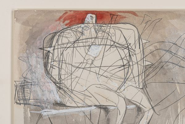 DRAWING FOR SCULPTURE (ARMED FIGURE) - Bernard Meadows 1915-2005