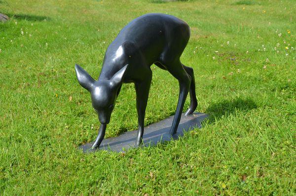 """A bronze """"Fawn"""" by Lilli Kerzinger-Werth"""