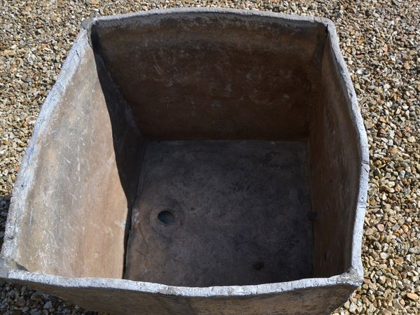 A fine early Queen Anne (1665-1714) lead corner cistern