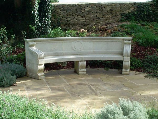 The Curved Neo-Classical Garden Seat