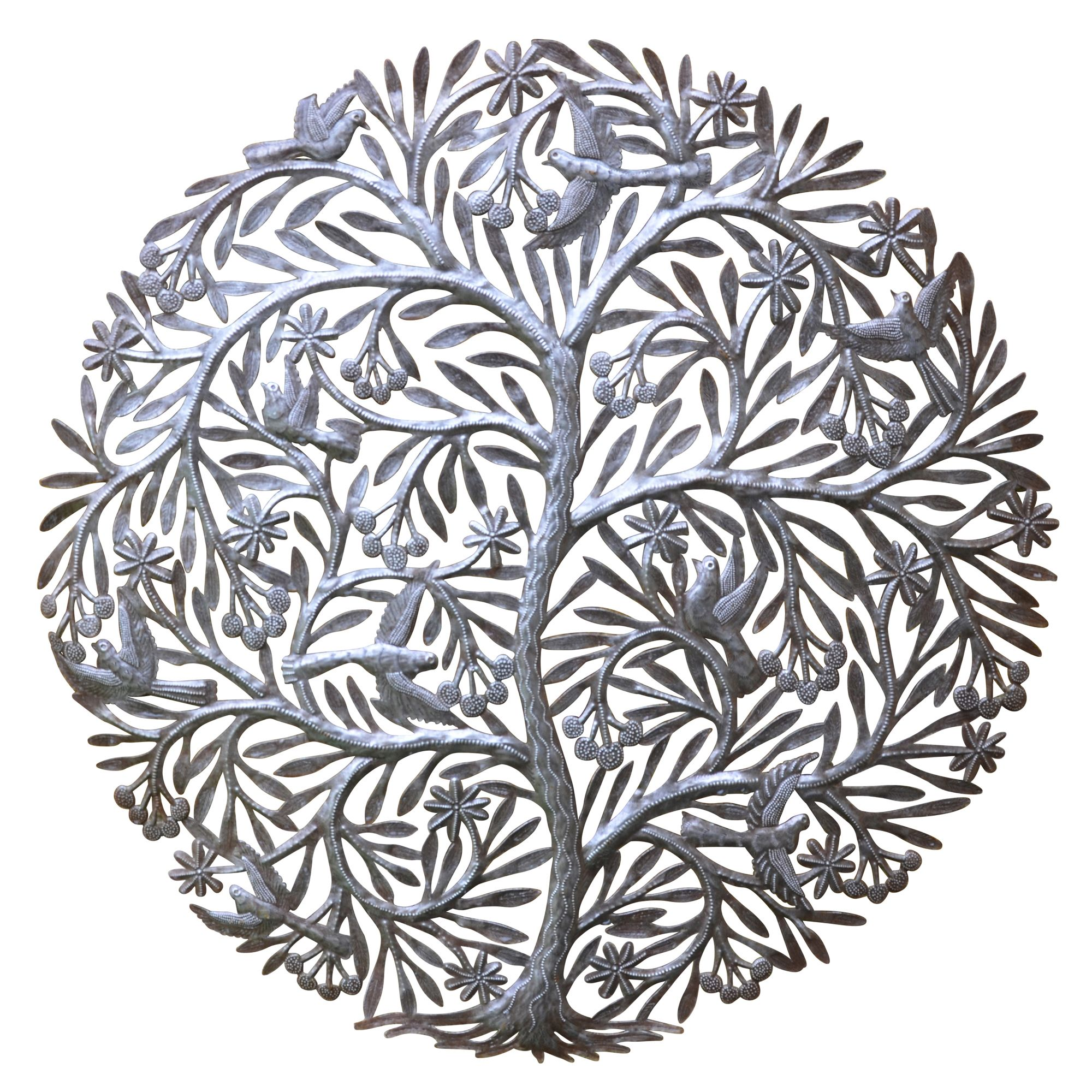 The Tree of Life Decorative Metal Wall Panel ...
