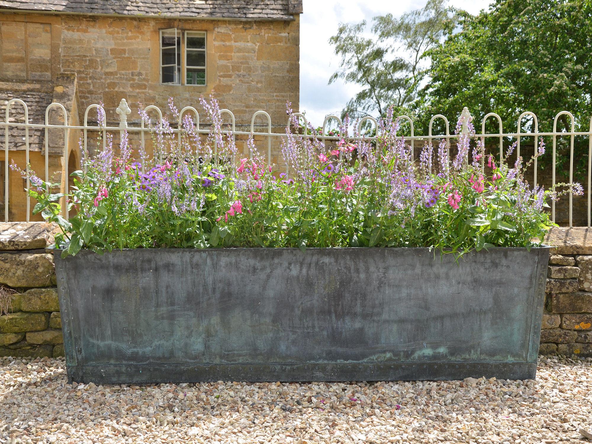 The Rectangular Copper Garden Planter