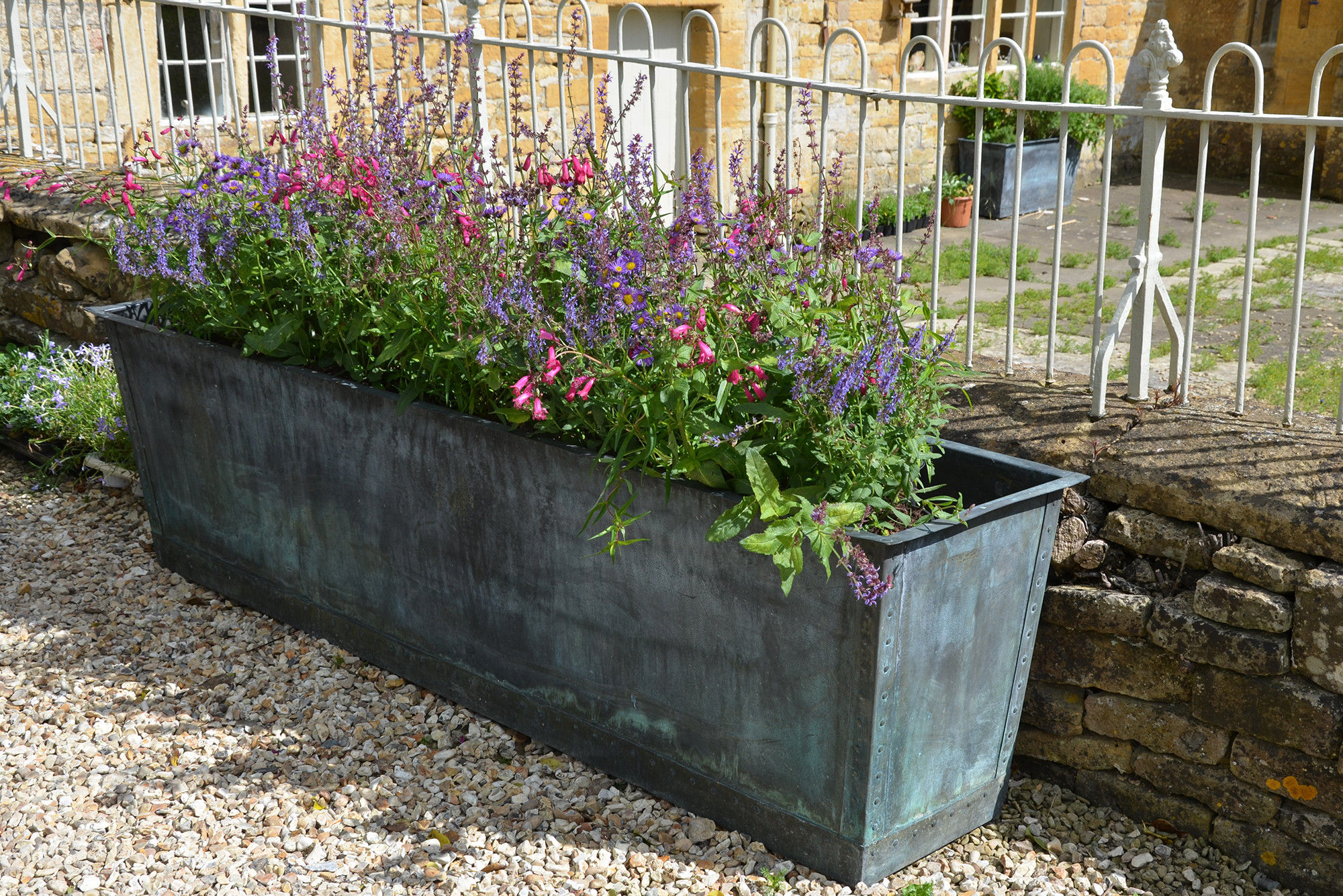 The Rectangular Copper Garden Planter - Large Narrow