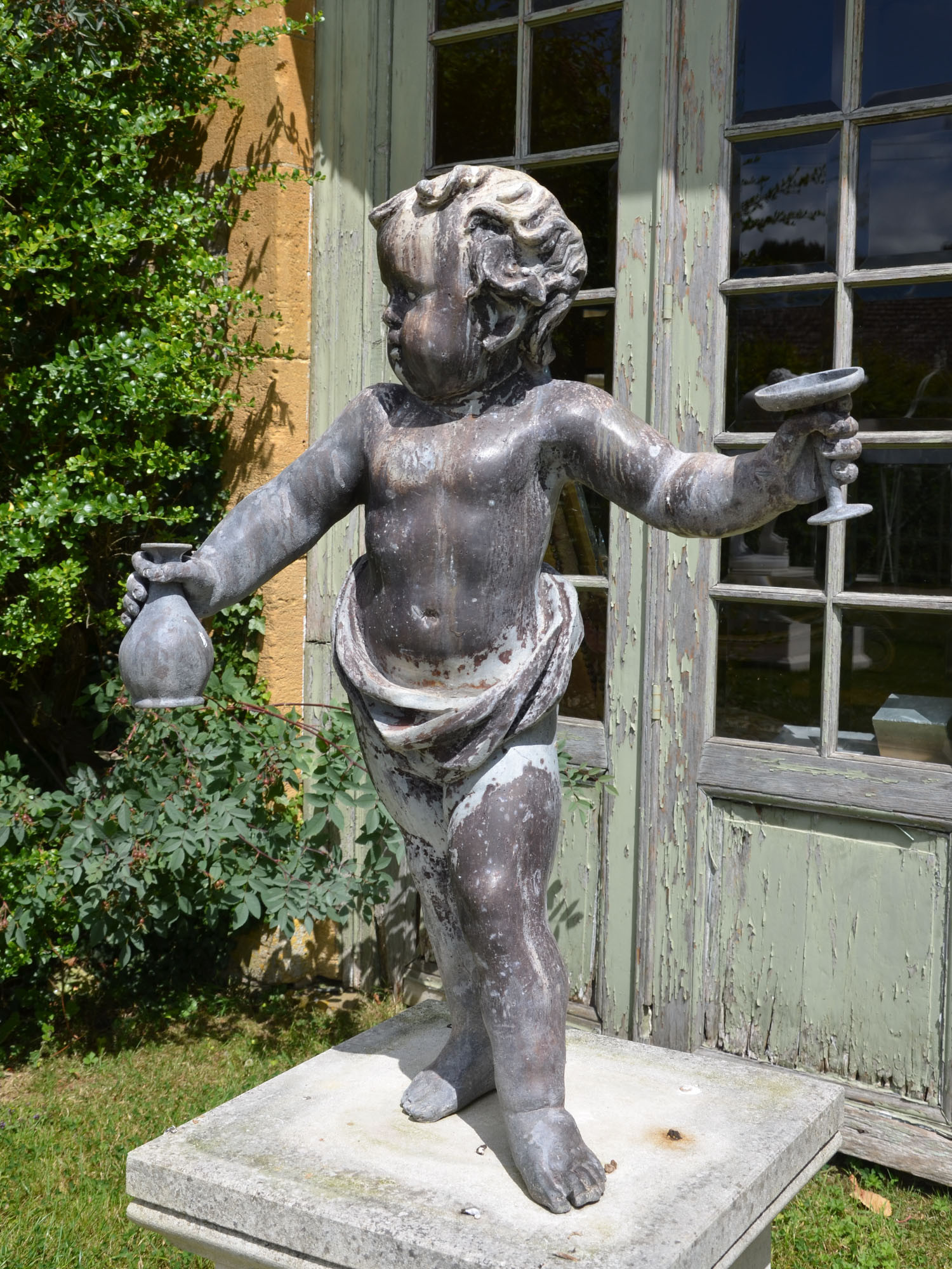 A 17th century lowland lead putto