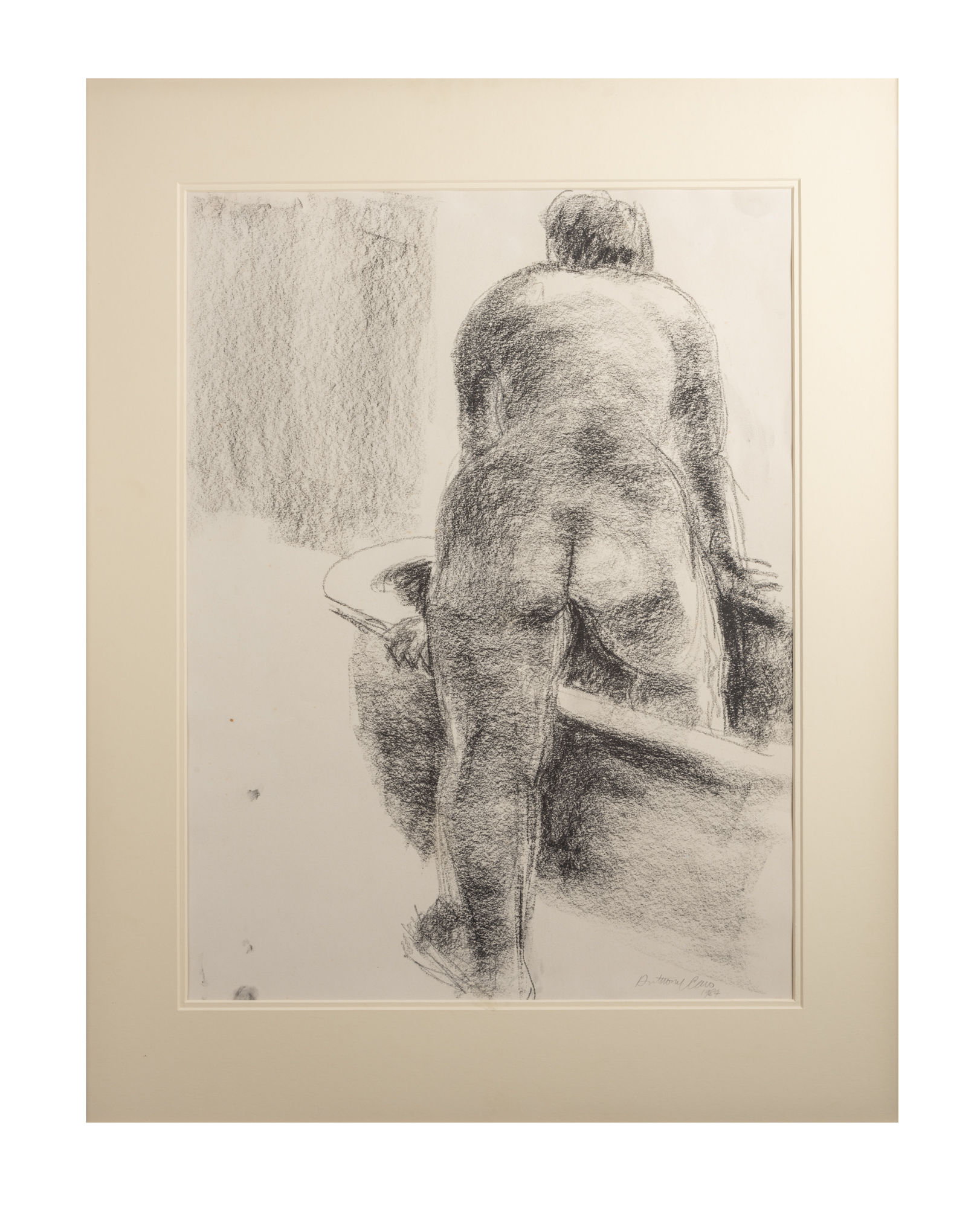 Untitled (Nude, Concetta Branson and Bathtub - study for 'Bathing Woman' bronze sculpture 1985/7) Sir Anthony Caro OM CBE 1924 - 2013