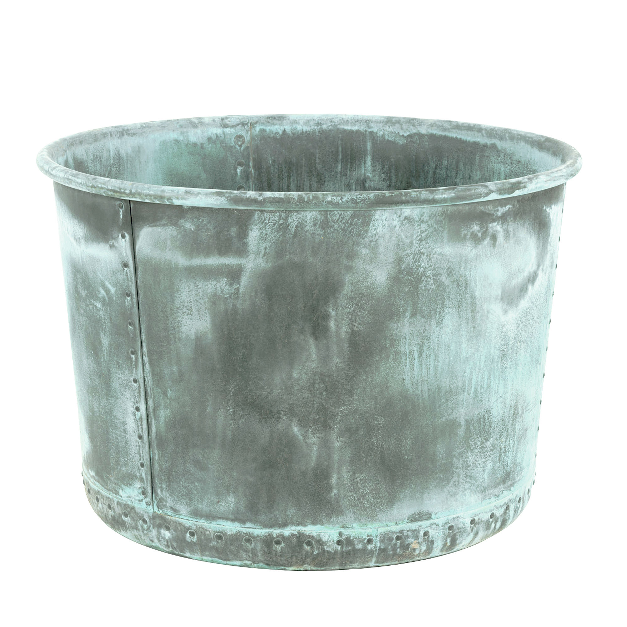 The Circular Copper Garden Planter Large - Rolled Edge