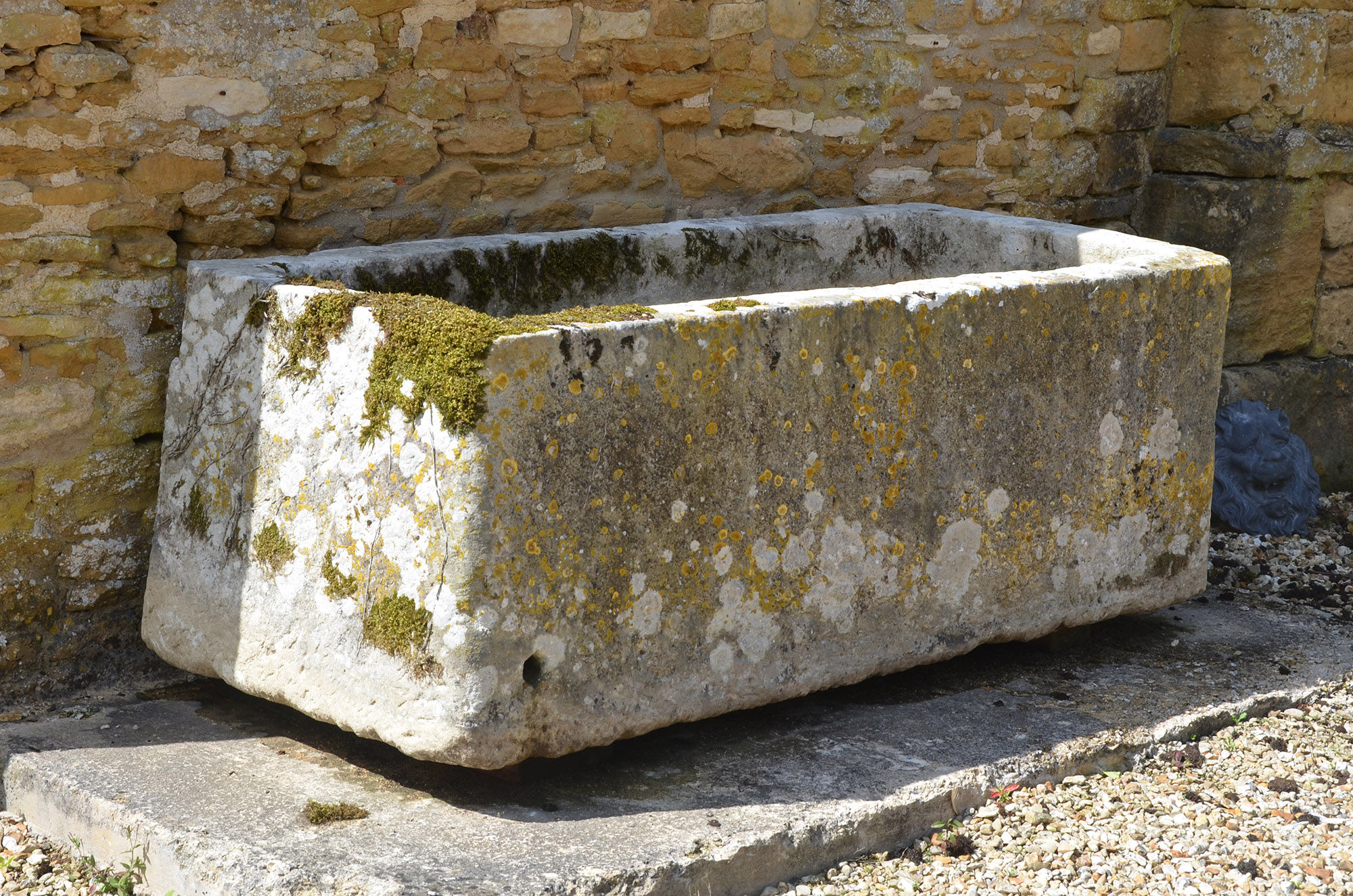 An 18th century large stone trough