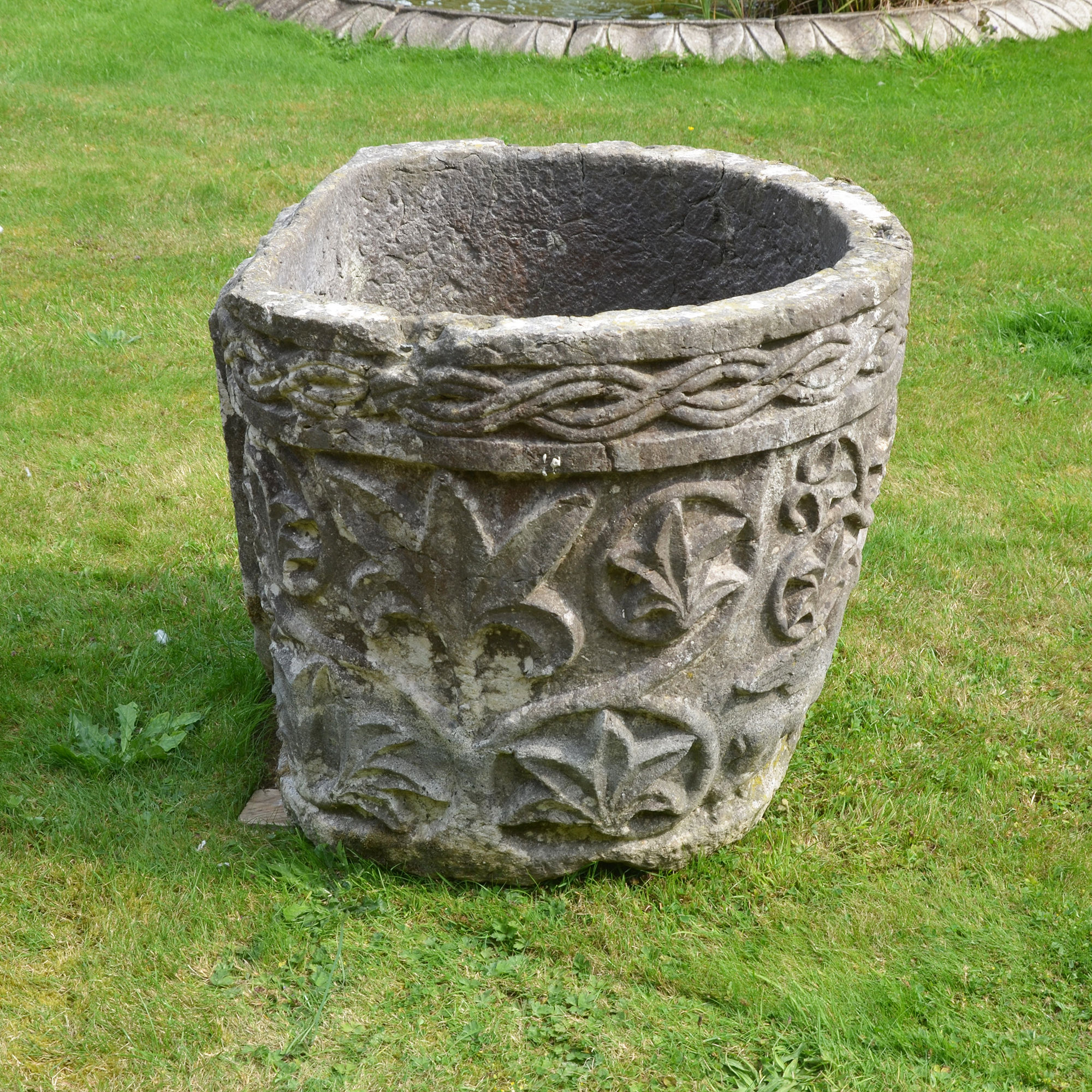 A late 19th century Istrian stone planter of irregular form