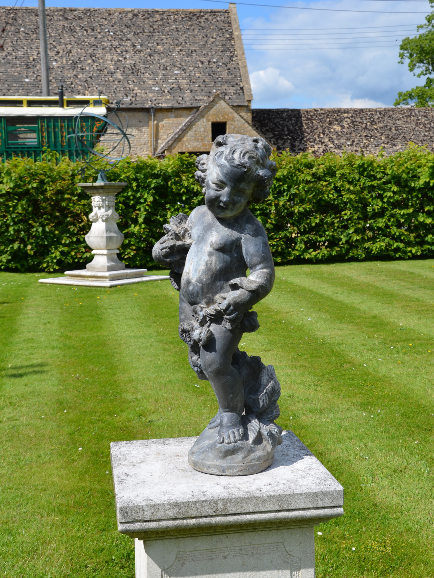 An Early 20th Century Lead Garden Figure In The Form Of A