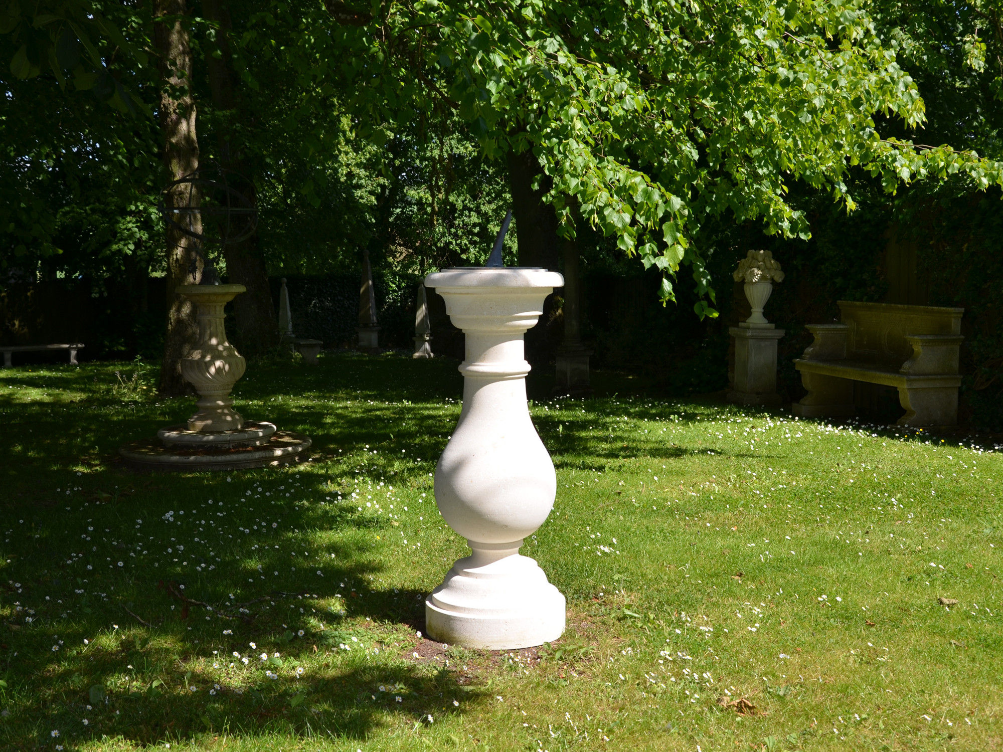 The Equinox Sundial Pedestal with Thomas Wright Dial Plate