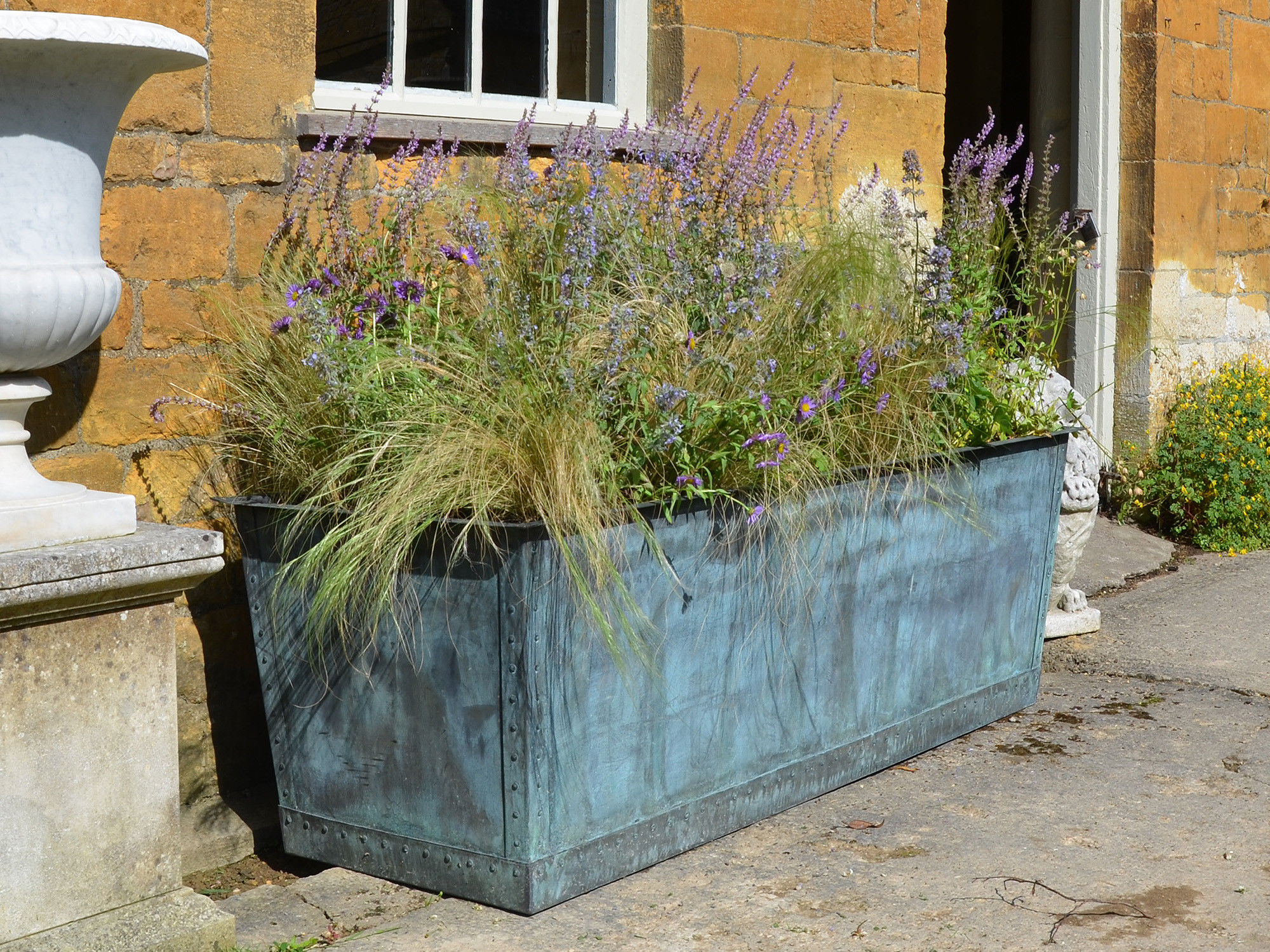 The Rectangular Copper Garden Planter - Large Wide