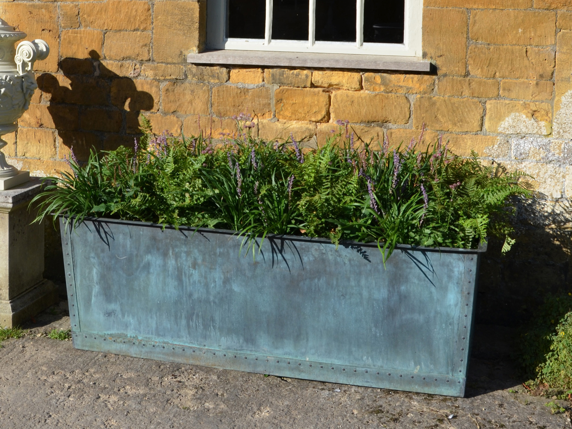 The Rectangular Copper Garden Planter - Medium Narrow