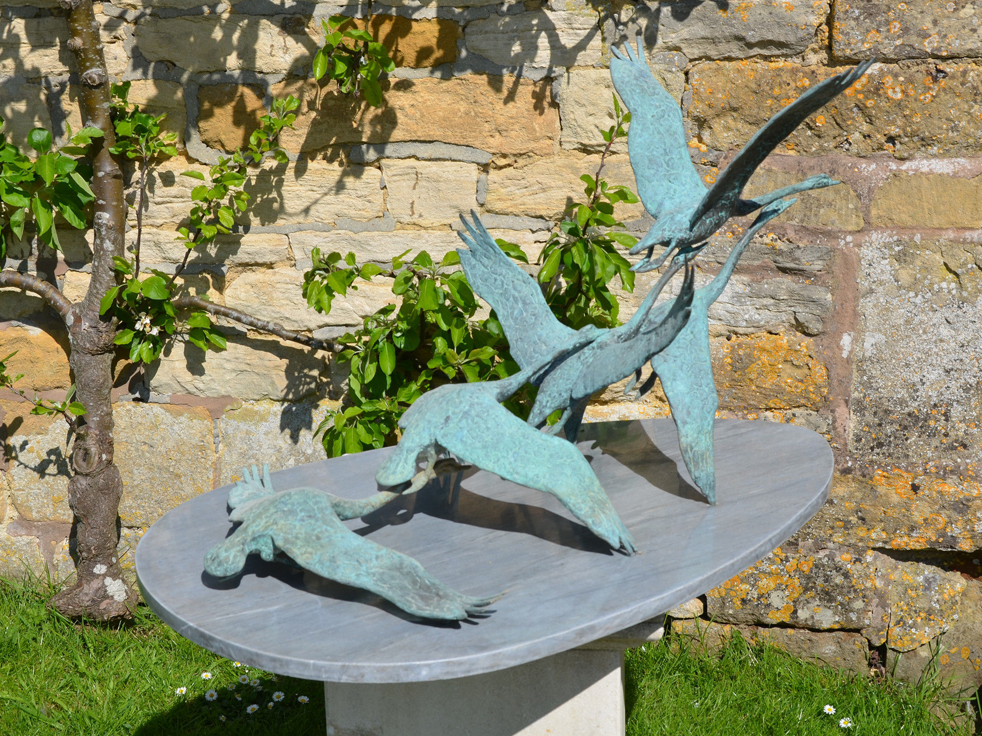 'Flying Swans' By David Wynne OBE (1926 – 2014)