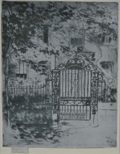 Theodore Roussel - The Gate, Chelsea - etching