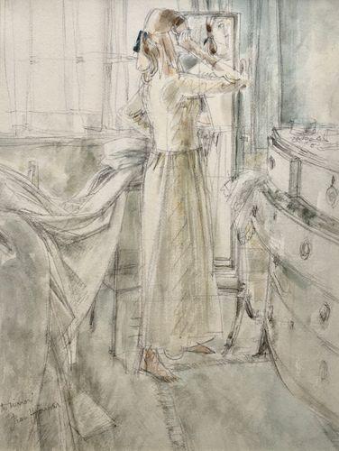 Jean Harper - The Mirror - watercolour